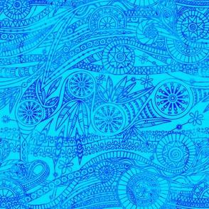 Batik Doodle in Blue