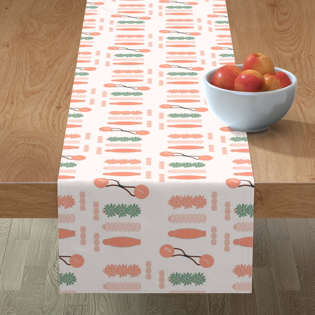 Minorca Table Runner featuring Drippin' in Finesse by freethebold