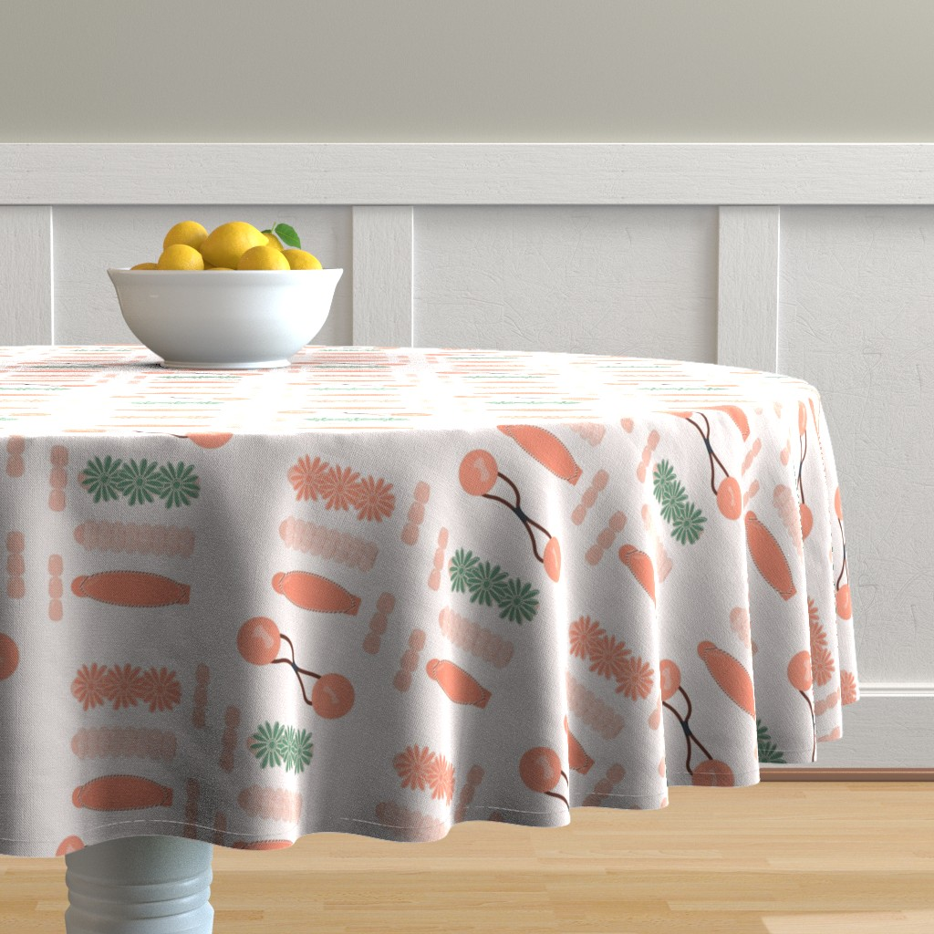 Malay Round Tablecloth featuring Drippin' in Finesse by freethebold