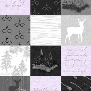 Always Quilt - lavender - wizard quotes -
