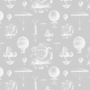Gray Vintage Balloons