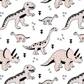 Cool Scandinavian kids dino friends dinosaur pattern gender neutral