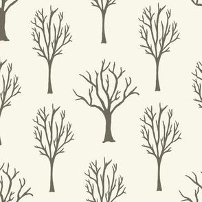 Winter Trees - Clay, Ivory