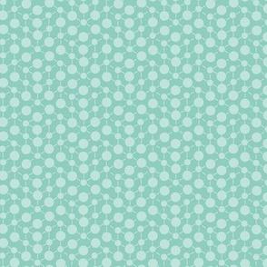 Mint Aqua Green Spots Polka Dots Math || Nautical Quilt Coordinate _ Miss Chiff Designs