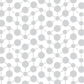 White Gray Grey Neutral Spots Polka Dots Math || Winter Quilt Coordinate Home Decor Low Volume _ Miss Chiff Designs