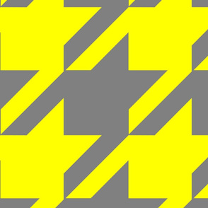 18-04D Jumbo Houndstooth Yellow Gray _ Miss Chiff Designs