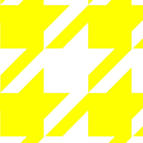 18-04C Jumbo Houndstooth Yellow White