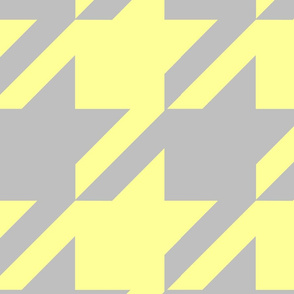 18-04B Jumbo Houndstooth Butter Yellow and Gray  _ Miss Chiff Designs