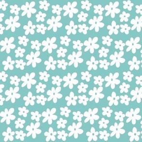 Soft Blue Daisy Flowers