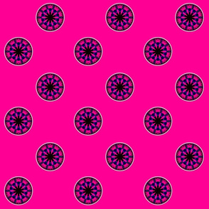 Blue & Pink Rose Kaleidoscope