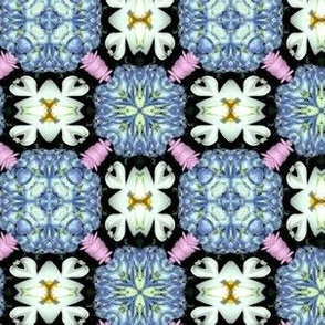 Mixed flowers kaleidoscope #1