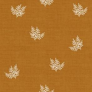 Feathery Fern, Rust Orange // large