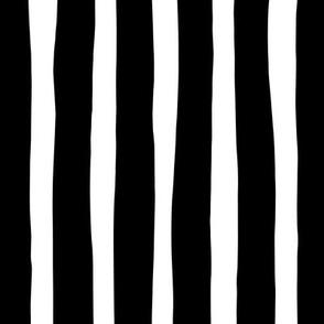 Basic vertical stripes monochrome circus theme black and white
