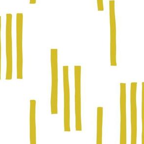 Basic stripes and strokes monochrome circus theme yellow