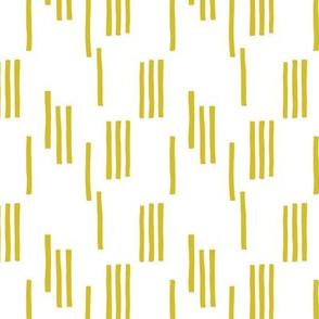 Basic stripes and strokes monochrome circus theme yellow SMALL