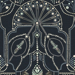 Ornamental Beaded Deco {Midnight} - large scale