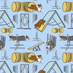 Simple Border Collie agility dogs A - blue