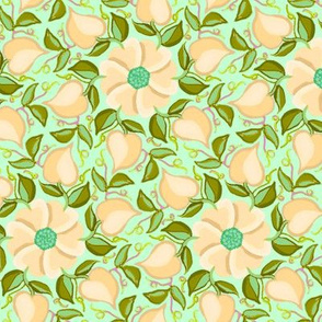 Heart Vines Peach and Green