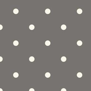 Dot - Small - Ash, Ivory