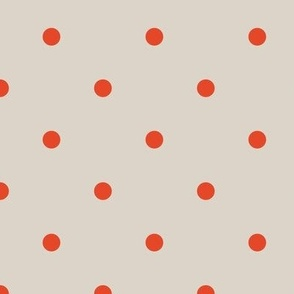 Dots - Small - Neutral, Red