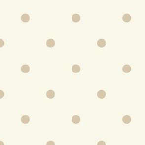 Dot - Small - Tan, Ivory