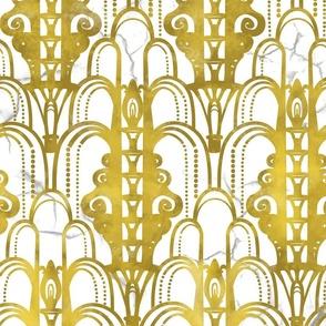 Art Deco golden arches