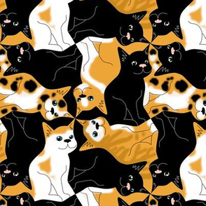 Tesselating Halloween Cats