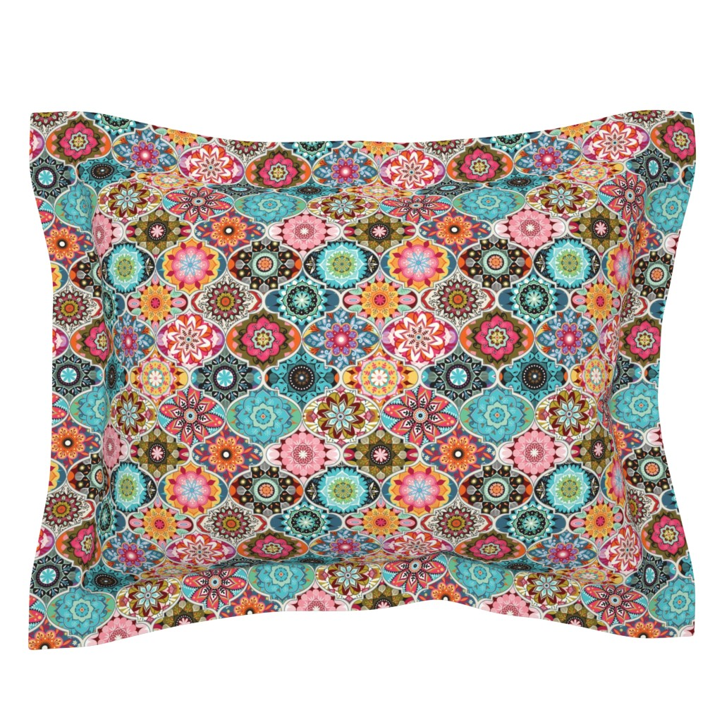 Sebright Pillow Sham featuring Bohemian summer | small by camcreative