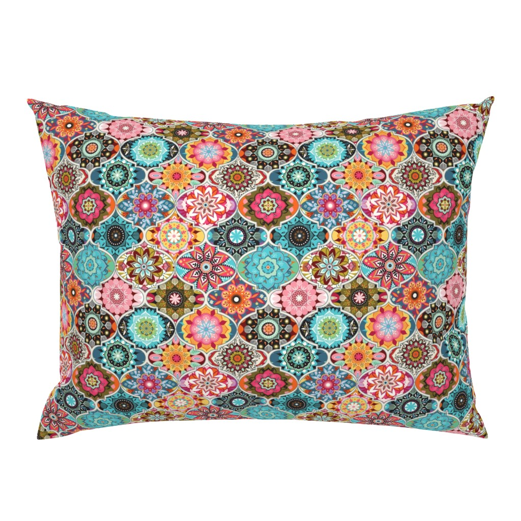 Campine Pillow Sham featuring Bohemian summer | small by camcreative