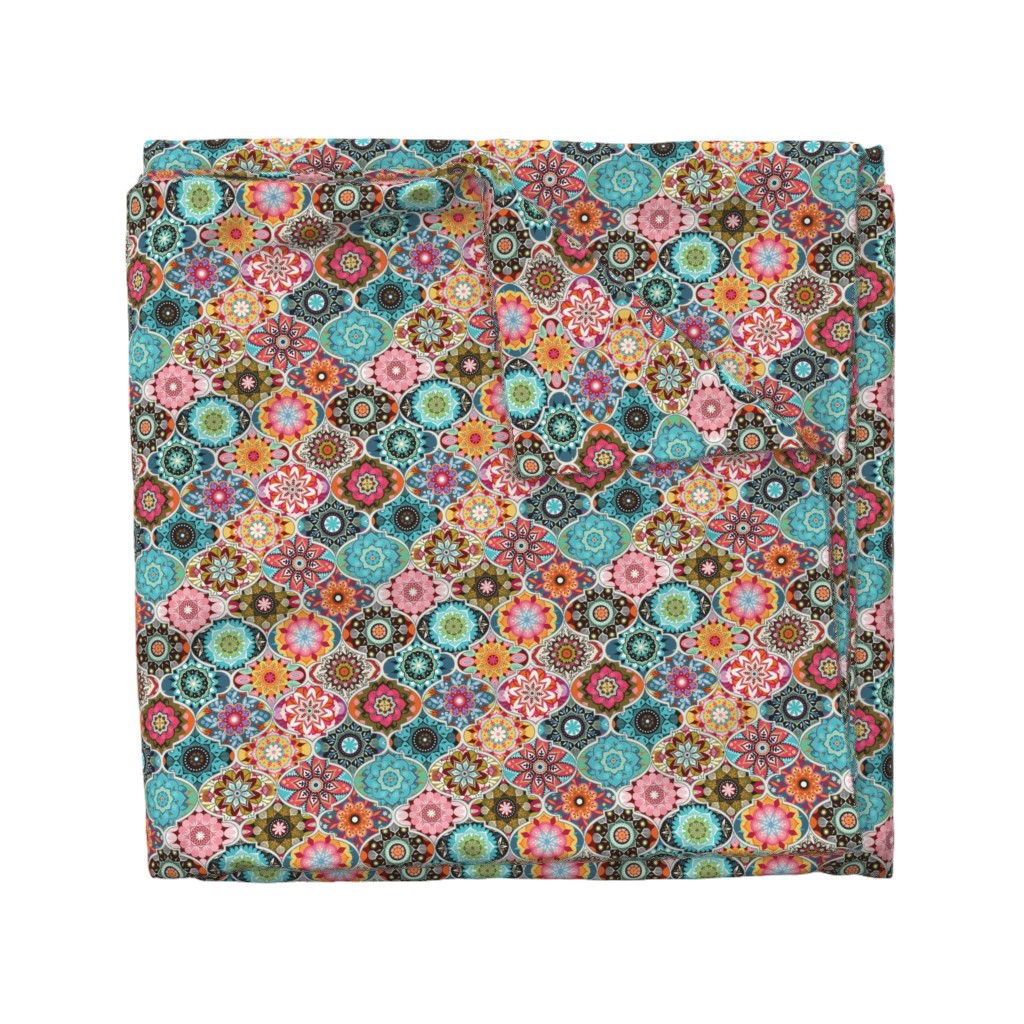 Wyandotte Duvet Cover featuring Bohemian summer | small by camcreative