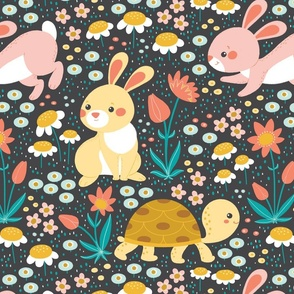 Bunnies and turtle