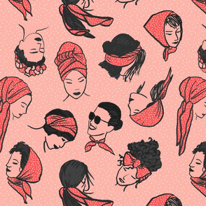 Women in Head Scarves BIG