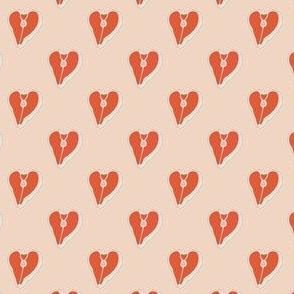 HEART STEAKS ON PINK