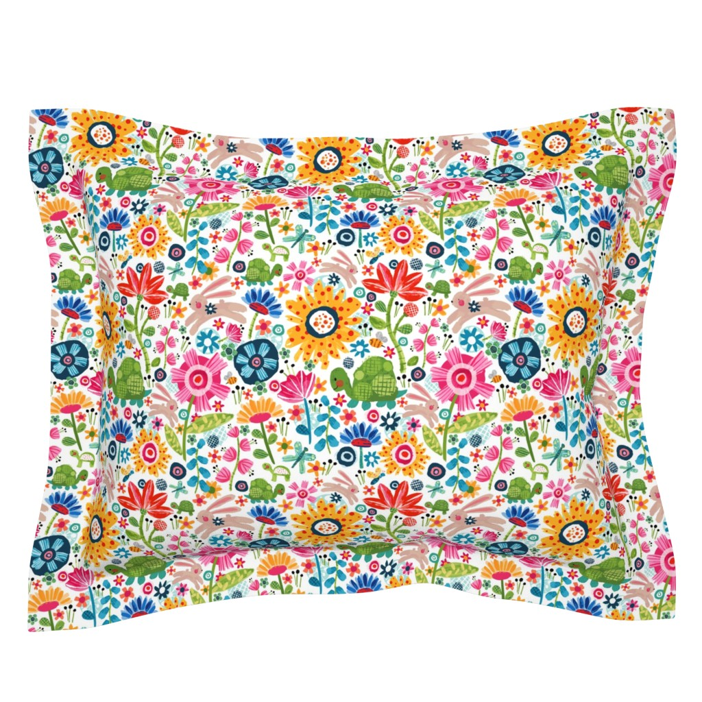 Sebright Pillow Sham featuring Tortoise And Hare by sarah_treu