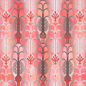 Art Deco Pattern peach
