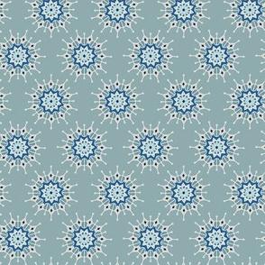 Mandala Circles in Aqua and Blue