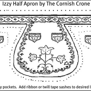 """Izzy Half Apron for 15"""" doll final"""