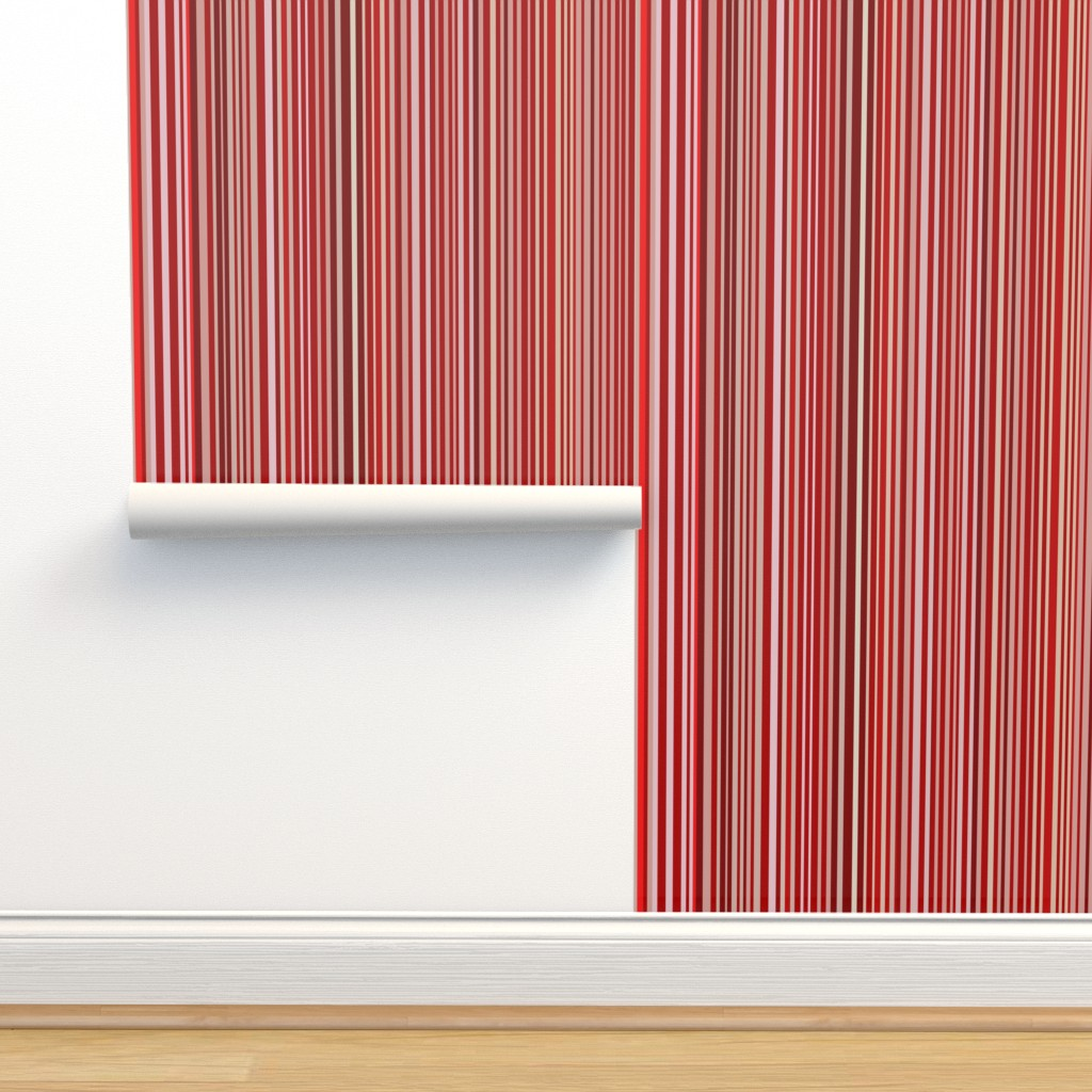 Isobar Durable Wallpaper featuring Uneven stripe by cinneworthington