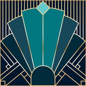 Art Deco in Teal