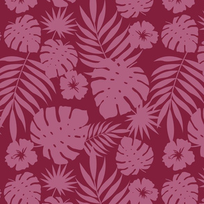 Hawaiian Leaves (red)