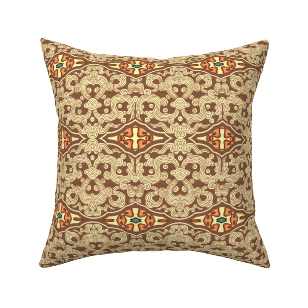 Catalan Throw Pillow featuring indo-persian 344 by hypersphere