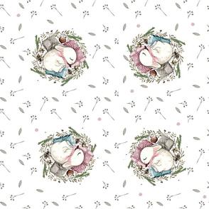 IP-20180221B sleeping bunny wreath light