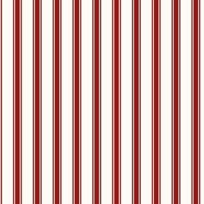 Ticking Stripe: Candy Apple Red