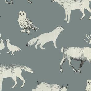 winter animals (grey)