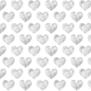 Grey Watercolor Hearts