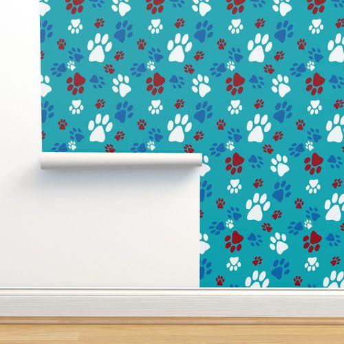 Dog paw print - Spoonflower