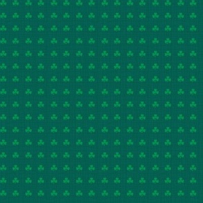 Tiny Shamrocks On Emerald