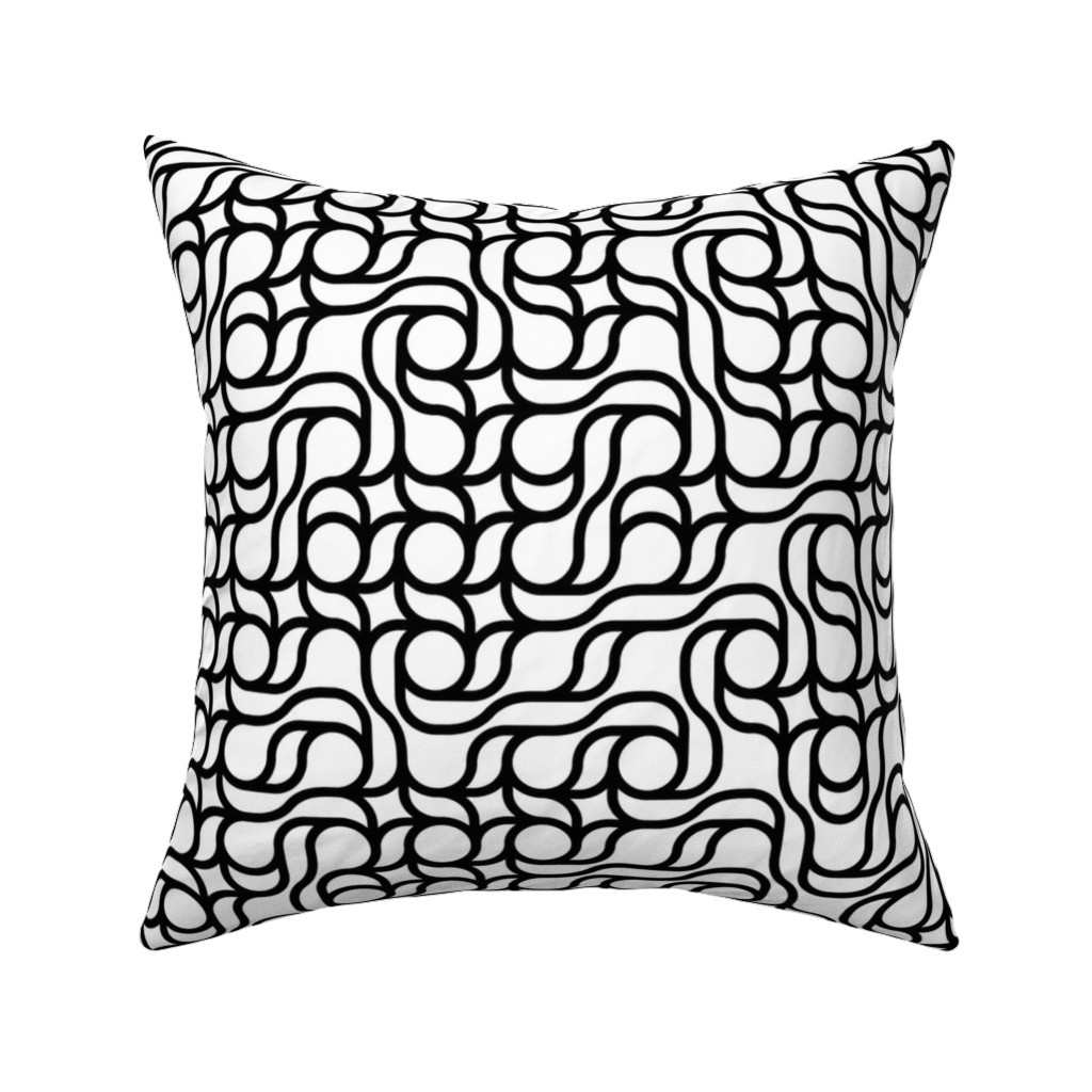 Catalan Throw Pillow featuring Set 01/0007 by contrast