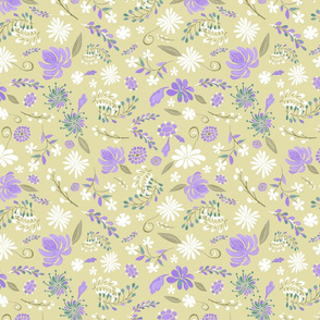 Olive and Lavender Flowers