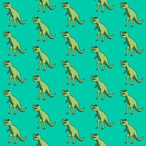 trex in green